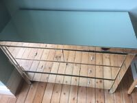 Beautiful mirrored chest of drawers! Offers welcome!