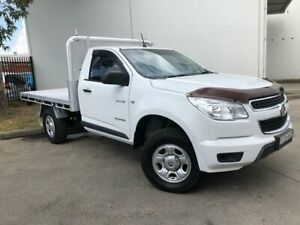 2013 Holden Colorado RG MY13 DX Cab Chassis Single Cab 2dr Man 5sp 1236kg 2.5DT White Manual Oxley Park Penrith Area Preview