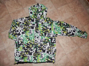 Youth rain jackets, sneakers and pants