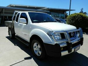 2012 Nissan Navara D40 S6 MY12 ST-X King Cab White 6 Speed Manual Cab Chassis Yamanto Ipswich City Preview