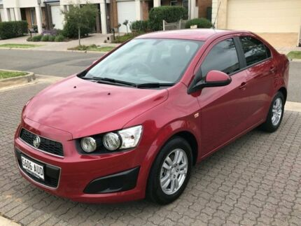 2012 Holden Barina TK MY11 Red 4 Speed Automatic Sedan