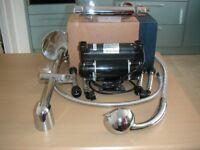 Power Shower Kit – 1.5 Bar Pump, Thermostatic Mixer Bar & Shower Riser Kit - Used