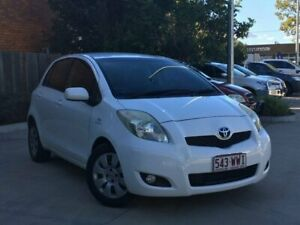 2008 Toyota Yaris NCP91R YRS White 4 Speed Automatic Hatchback