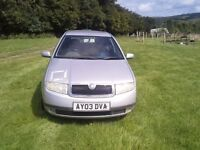 skoda fabia Comfort 1.9 SDI, Hatchback, Silver. Manual. 2003. full 12 month MOT