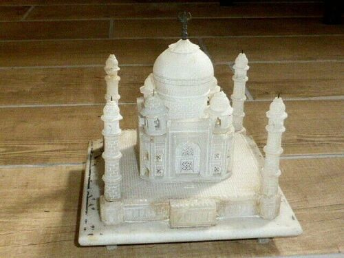 Vintage Carved Alabaster Model of The Taj Mahal, as found