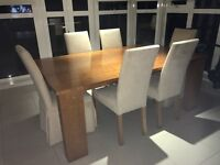 John Lewis Solid Oak Dining Table & 6 Chairs