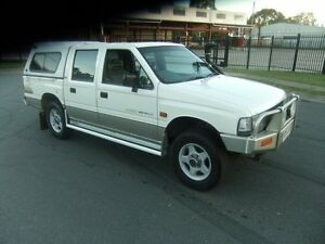 1995 Holden Rodeo White 5 Speed Manual 4x4 Dual Cab Springwood Logan Area Preview