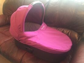 Oyster carrycot and rain cover