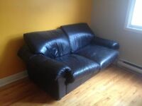 Black couch/Loveseat