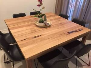 Handmade Messmate Dining Table - Square table top / straight legs Hampton Bayside Area Preview