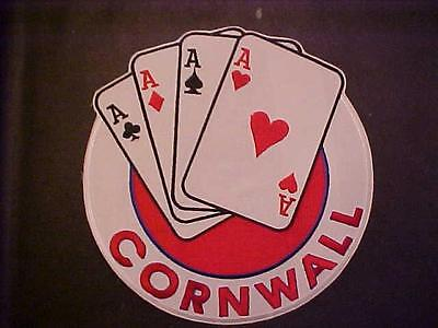 Cornwall Aces 8 Inch Jersey Crest Mint Unused  90S