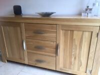 Solid Oak Sideboard - Very good condition