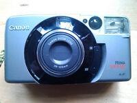 Canon Prima super 105 film camera with new CR2 batteries