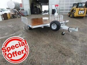 8 X 9 STOWABLE RAMP SERIES ATV TRAILER *TAX IN* Spare Incl!