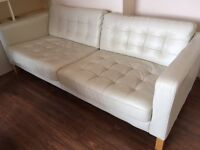 White leather sofa for a tenner
