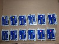 12 Used Epson printer ink cartridges for recycling