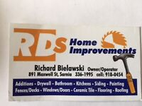 RDs Home Improvements, Sarnia and area - Please READ