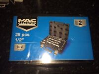 Brand new unopened 25 piece socket set with ratchet 1/2 inch