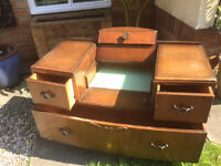 Vintage wooden drawers....chest of drawers