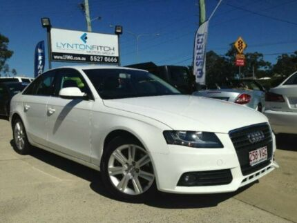 2010 Audi A4 B8 8K MY11 Multitronic White 8 SPEED Sedan Southport Gold Coast City Preview