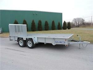 High sides Galvanized 7X16 Trailer