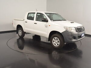 2013 Toyota Hilux KUN26R MY12 Workmate Double Cab White 4 Speed Automatic Utility Victoria Park Victoria Park Area Preview