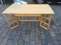Oak Veneer Folding Dining Table - Good Condition