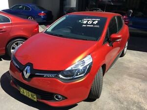 2014 Renault Clio X98 Series IV Expression Red Sports Automatic Dual Clutch Hatchback Concord Canada Bay Area Preview