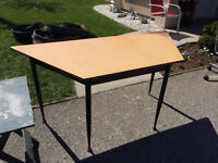 Trapezoid Shaped Table