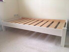Single bed frame, white. No mattress.