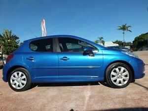 2007 Peugeot 207 A7 XT Blue 5 Speed Manual Hatchback Rosslea Townsville City Preview