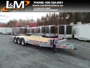 NEW 2019 N&N GALVANIZED TRI-AXLE EQUIPMENT TRAILER 21000LB GVW