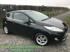 OCT 2012 FORD FIESTA 1.4 TDCI ZETEC 3DR ALLOYS B/TOOTH FOGS FINANCE FROM ONLY £97 PER MONTH £20 TAX