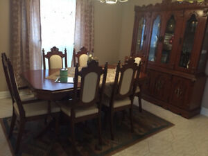 dinning room set 6 Chairs, Table can be Extended,2 piece chest..