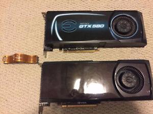 2x EVGA GTX 580 Video Cards