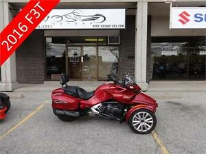 2016 Can-Am Spyder F3T- Stock#V2607- No Payments for 1 Year**