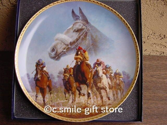 FRED STONE horse plate DANCE SMARTLY Signed MIB RARE!!