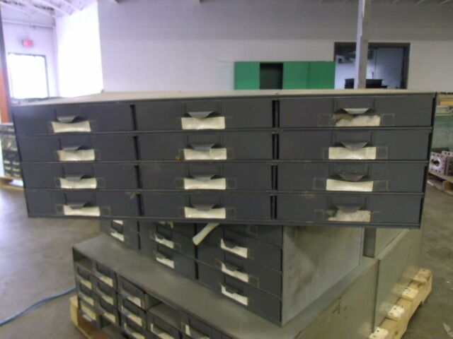 """Lyon Metal Supply Parts Bin Cabinet with 12 Drawers / 34"""" X 17"""" X 10 ½"""""""