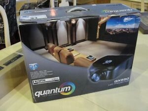 Quantam 550 projector and screen