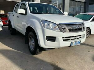 2013 Isuzu D-MAX MY12 LS Crew Cab 4x2 High Ride White 5 Speed Sports Automatic Utility North Hobart Hobart City Preview