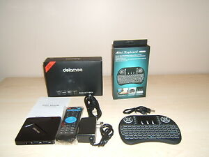 NEW IN BOX DOLAMEE D5 Android TV Box With Keyboard