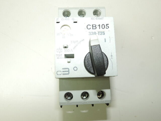 C3 Controls 330-T25S2U25 Rail Motor Protective Circuit Breakers 20-25 Amps
