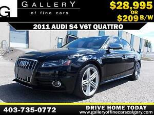 2011 Audi S4 3.0T QUATTRO $209 bi-weekly APPLY NOW DRIVE NOW