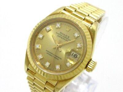 Auth ROLEX Datejust 69178G Gold 18K Yellow Gold Women