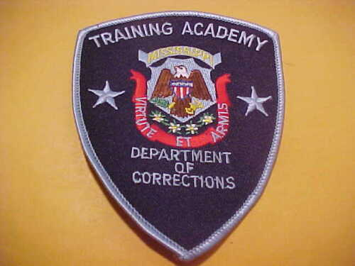 MISSISSIPPI D.O.C. TRAINING ACADEMY POLICE PATCH SHOULDER SIZE UNUSED