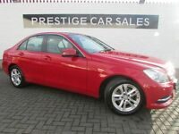 MERCEDES-BENZ C CLASS 2.1 C220 CDI SE (EXECUTIVE PACK) 4DR (red) 2013