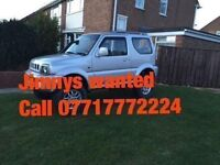 WANTED FOR CASH SUZUKI JIMNYS
