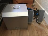 Dell computer speakers + (subwoofer) for sale