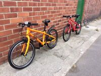 Two Frog 55 bikes for sale. Suitable for children aged 6 - 7.