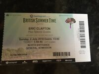 Eric Clapton Ticket (one) for sale